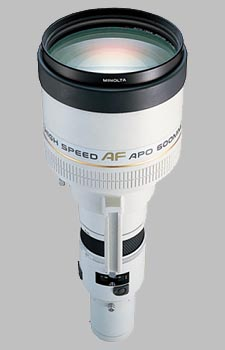 image of the Konica Minolta 600mm f/4 APO G AF lens