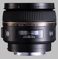 image of the Konica Minolta 85mm f/1.4 G D AF lens