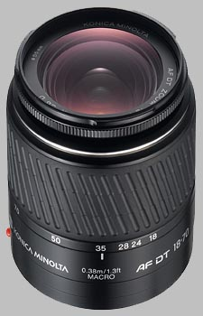 image of the Konica Minolta 18-70mm f/3.5-5.6 D AF DT lens