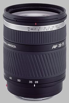 image of the Konica Minolta 28-75mm f/2.8 D AF lens