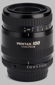 image of the Pentax 100mm f/3.5 Macro SMC P-FA lens
