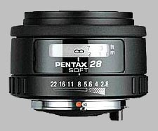 image of the Pentax 28mm f/2.8 Soft SMC P-FA lens