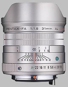 image of the Pentax 31mm f/1.8 AL Limited SMC P-FA lens