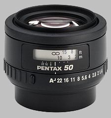 image of the Pentax 50mm f/1.4 SMC P-FA lens