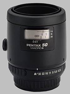 image of the Pentax 50mm f/2.8 Macro SMC P-FA lens