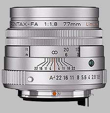 image of the Pentax 77mm f/1.8 Limited SMC P-FA lens