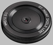 image of the Pentax Q 11.5mm f/9 07 Mount Shield Lens lens