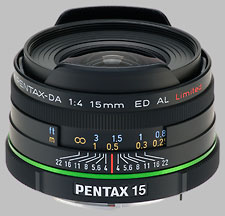 image of the Pentax 15mm f/4 ED AL Limited SMC DA lens