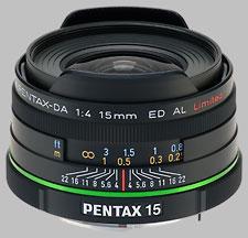 image of the Pentax 15mm f/4 ED AL Limited SMC DA lens