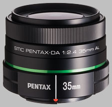 image of the Pentax 35mm f/2.4 AL SMC DA lens