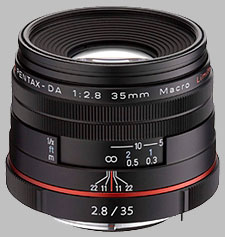 image of the Pentax 35mm f/2.8 Macro Limited HD DA lens