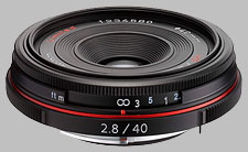 image of the Pentax 40mm f/2.8 Limited HD DA lens