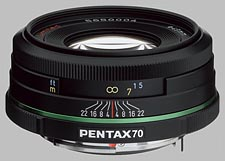 image of the Pentax 70mm f/2.4 Limited SMC DA lens
