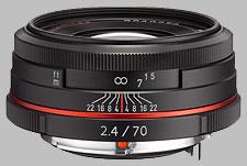 image of Pentax 70mm f/2.4 Limited HD DA