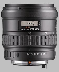 image of the Pentax 20-35mm f/4 AL SMC P-FA lens