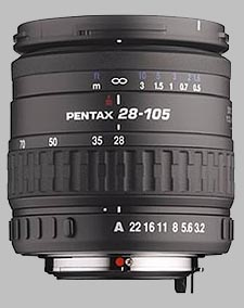 image of the Pentax 28-105mm f/3.2-4.5 AL IF SMC P-FA lens