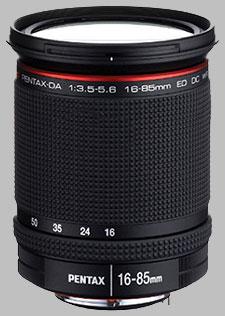 image of the Pentax 16-85mm f/3.5-5.6 ED DC WR DA lens
