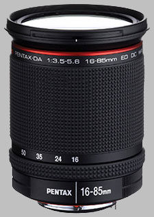 image of the Pentax 16-85mm f/3.5-5.6 ED DC WR DA lens
