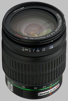 image of the Pentax 17-70mm f/4 AL IF SDM SMC DA lens