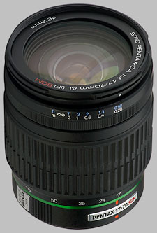 image of the Pentax 17-70mm f/4 AL IF SDM SMC DA lens