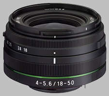 image of the Pentax 18-50mm f/4-5.6 DC WR RE HD DA lens