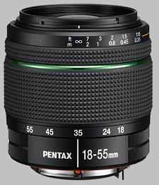 image of the Pentax 18-55mm f/3.5-5.6 AL SMC DA WR lens
