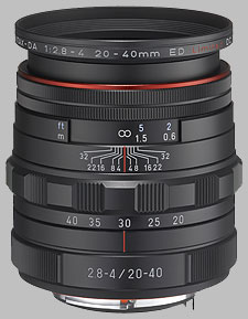 image of the Pentax 20-40mm f/2.8-4 ED Limited DC WR HD DA lens