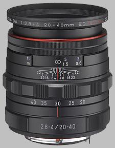 image of the Pentax 20-40mm f/2.8-4 ED Limited DC WR HD DA lens