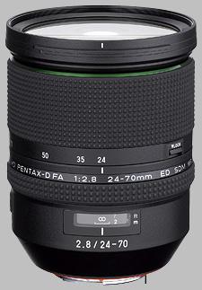 image of the Pentax 24-70mm f/2.8 ED D FA HD SDM WR lens