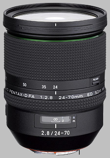 image of the Pentax 24-70mm f/2.8 ED D FA HD SDM WR lens