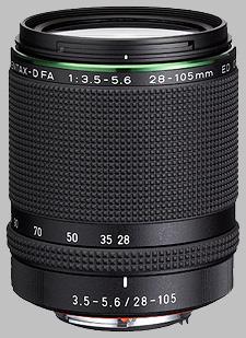 image of the Pentax 28-105mm f/3.5-5.6 ED D FA HD DC WR lens