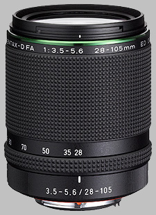 image of the Pentax 28-105mm f/3.5-5.6 ED D FA HD DC WR lens