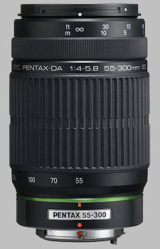 image of the Pentax 55-300mm f/4-5.8 ED SMC DA lens