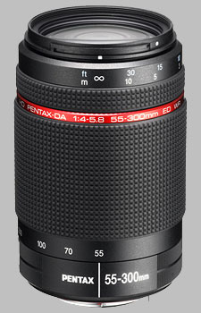 image of the Pentax 55-300mm f/4-5.8 ED WR HD DA lens