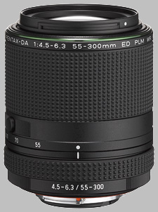 image of the Pentax 55-300mm f/4.5-6.3 ED PLM WR RE HD DA lens