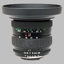 image of the Vivitar 19-35mm f/3.5-4.5 Series 1 AF lens