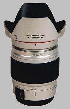 image of the Vivitar 28-210mm f/4.2-6.5 Series 1 AF lens