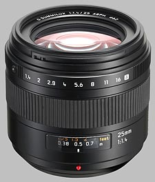 image of the Panasonic 25mm f/1.4 ASPH LEICA D SUMMILUX lens