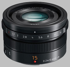 image of the Panasonic 15mm f/1.7 ASPH LEICA DG SUMMILUX lens