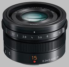 image of the Panasonic 15mm f/1.7 ASPH LEICA DG SUMMILUX lens