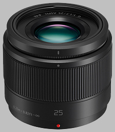 image of the Panasonic 25mm f/1.7 ASPH LUMIX G lens
