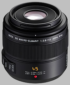 image of the Panasonic 45mm f/2.8 ASPH MEGA OIS LEICA DG MACRO-ELMARIT lens