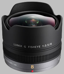 image of the Panasonic 8mm f/3.5 LUMIX G FISHEYE lens