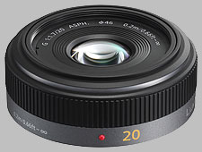 image of the Panasonic 20mm f/1.7 ASPH LUMIX G lens