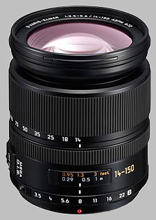 image of the Panasonic 14-150mm f/3.5-5.6 ASPH MEGA OIS LEICA D VARIO-ELMAR lens