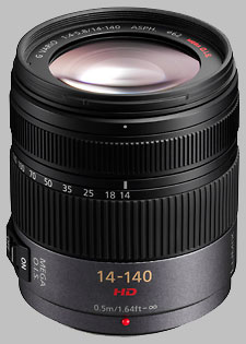 image of the Panasonic 14-140mm f/4-5.8 ASPH MEGA OIS LUMIX G VARIO HD lens