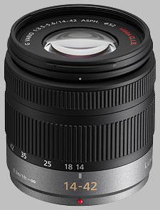 image of the Panasonic 14-42mm f/3.5-5.6 ASPH MEGA OIS LUMIX G VARIO lens