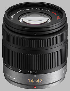 image of the Panasonic 14-42mm f/3.5-5.6 ASPH MEGA OIS LUMIX G VARIO lens