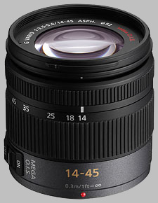 image of the Panasonic 14-45mm f/3.5-5.6 ASPH MEGA OIS LUMIX G VARIO lens