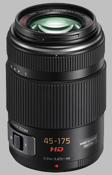image of the Panasonic 45-175mm f/4-5.6 ASPH POWER OIS LUMIX G X VARIO PZ lens
